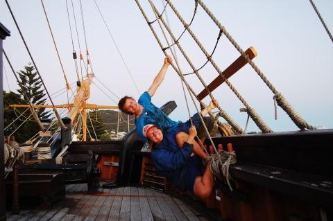 We found a pirate ship!