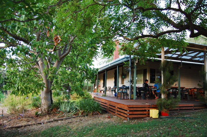 Denise and Paul's house on their orchard in Southern Australia