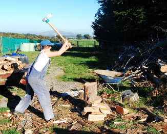 I love chopping firewood now! SO FUN