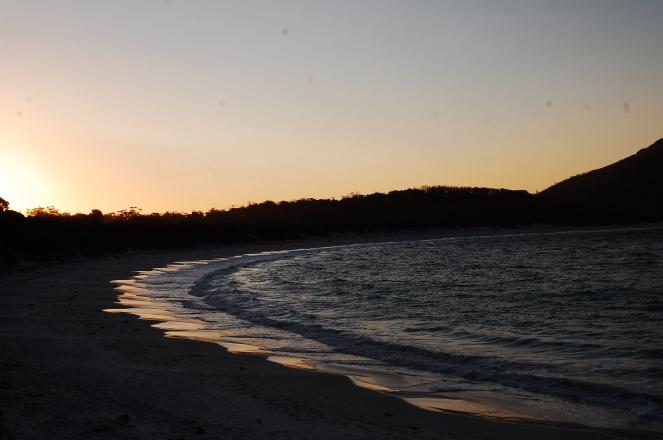 Sunset at Wineglass Bay
