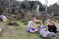 Amazing campsite down random dirt road near Cradle Mountain