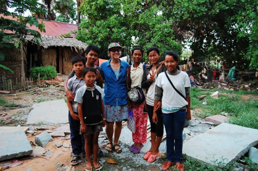 Teaching kids in Cambodia. Did this a lot! LOVE IT