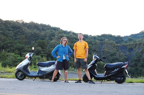 Motorbiking with new friends in Taiwan