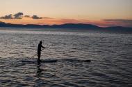 Paddleboarder on Lake Tahoe