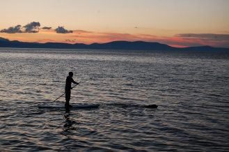 Paddleboarder on Lake Tahoe