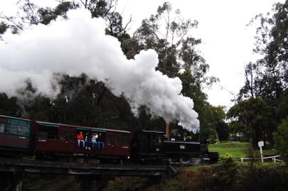 steam train! a popular tourist attraction.