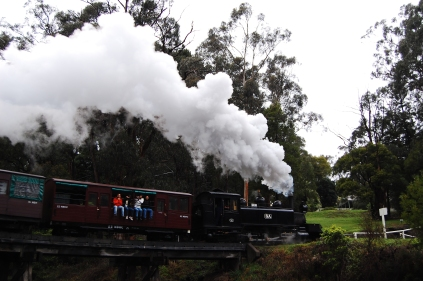 steam train! a popular tourist attraction.