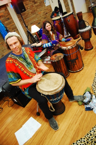 he also teaches african drumming!