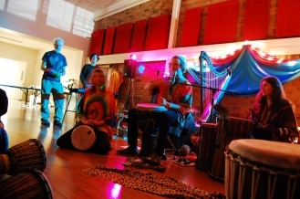 this was at a community jam session we got to go to!