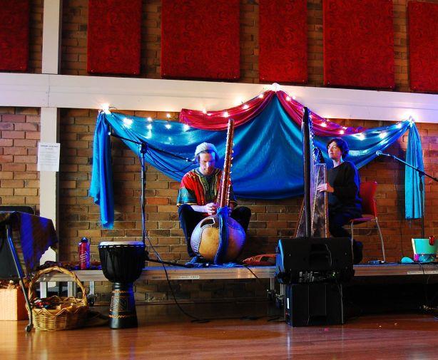 kora and harp jam session
