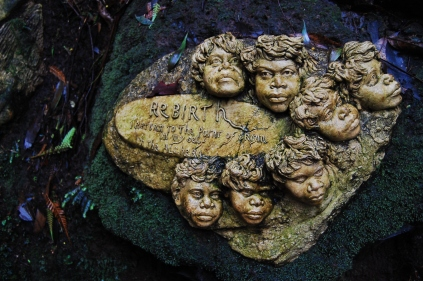 beautiful sculptures at William Ricketts Sanctuary