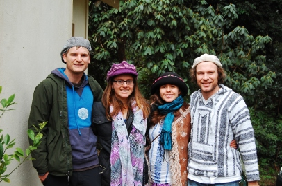 Us and our new friends, wearing hats! Teehee