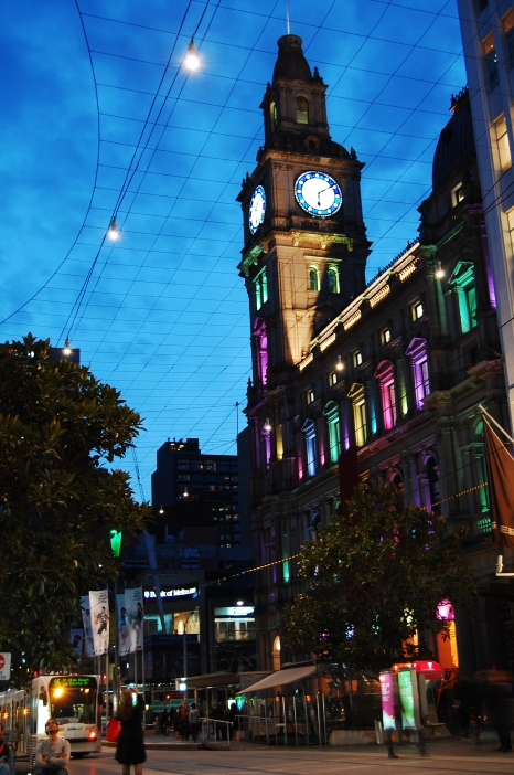 A trend in Australian cities is to light up buildings with rainbow colors