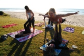 Acro yoga on the beach!