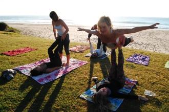 Acro yoga on the beach!