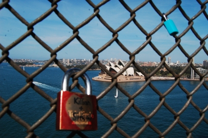 These love locks are a trend in Australia, they had some in Melbourne too