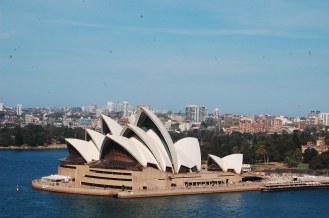 Opera house from the bridge (we walked across!)