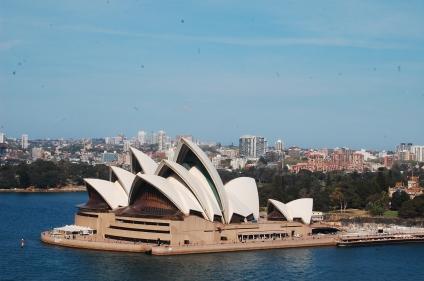 Opera house from the bridge (we walked across!)