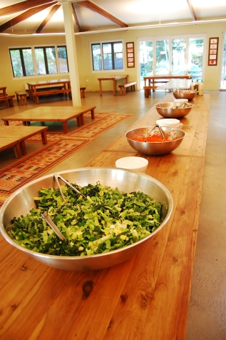 Every lunch there was a delicious salad buffet...