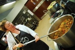 Sian is an amazing cook. She made curry for 60 people!