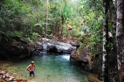 A secret waterfall spot where locals (and us!) were jumping in