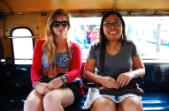 New and old friends meet on a Jeepney