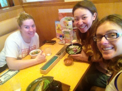 I had a traditional Japanese breakfast with Dana and Miki