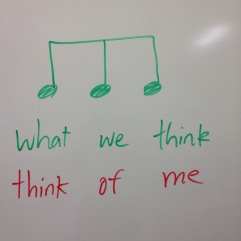 One of my students is in an English speech contest. When I was helping him, I thought of comparing music to words. It must have worked, because my student won 2nd place out of 60 kids!