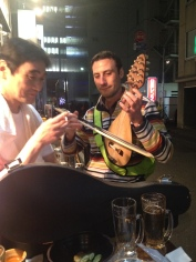 This guy is from Bulgaria and he had some kind of cool Bulgarian violin.