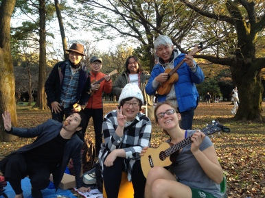 I even found a ukulele jam sessions! Of course I had to join in. :P I think they were pleasantly suprised by my request to join in.
