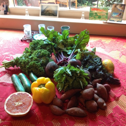 Yummy farmers market produce