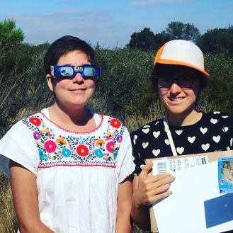 Natalie and I watched the partial eclipse together!